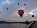 Oh how the balloons always seem to nearly crash into Lake Burley Griffin, only to rise up and fly away
