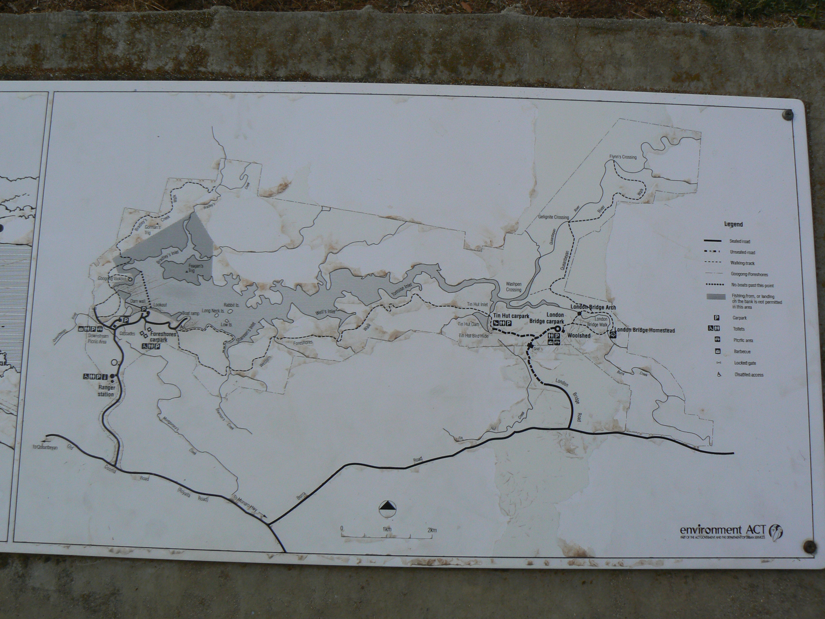 Googong Dam map