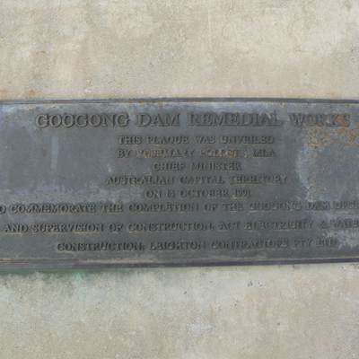 A plaque commemorating the fact that the plaque was unveiled?