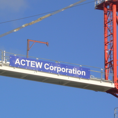 So ACTEW Corporation haven't contracted out the construction of the spillway?