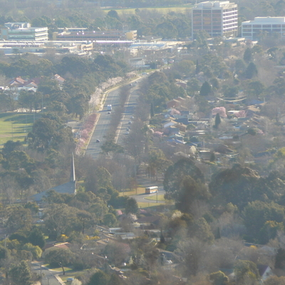 Antill Street from Mount Majura