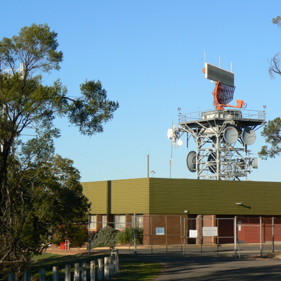 Airport Radar on Mount Majura