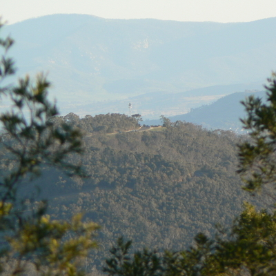 Mount Ainslie is visible from the summit of Mount Majura