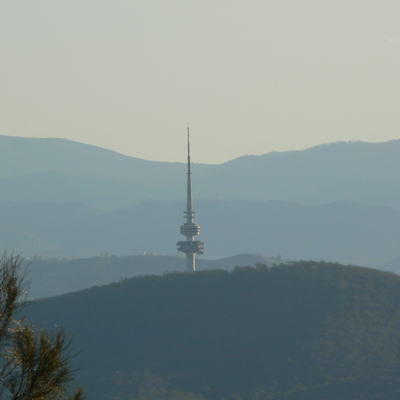 Black Mountain is also visible from the summit of Mount Majura