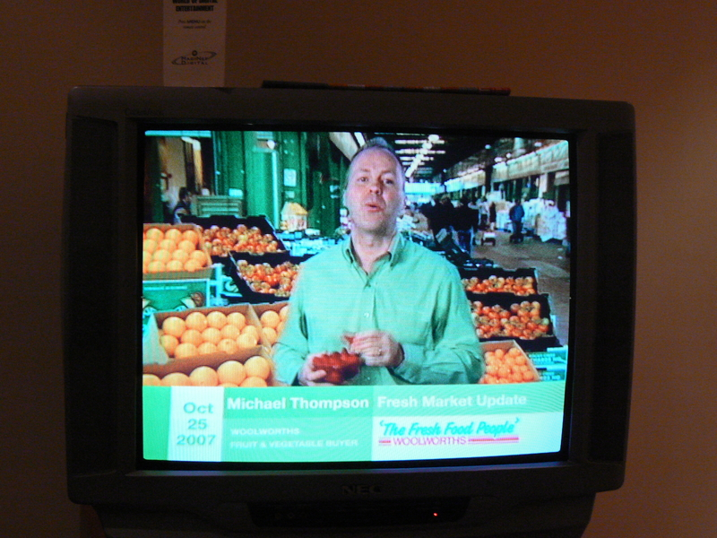 I leave town for a week, and what happens? 2CC's award winning drive show producer Michael Thompson starts pointing at fruit for Woolworths...and he looks different for some reason...completely different...almost as if he is a different person...