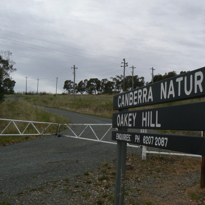 Oakey Hill entrance from Heysen Street