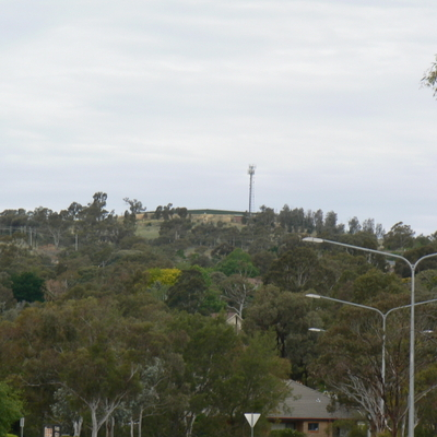 Oakey Hill from the bend of the aforementioned street