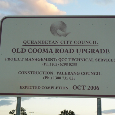 Old Cooma Road Upgrade